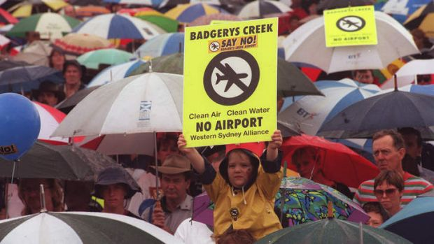 No smooth sailing: Rally against Badgerys Creek Airport