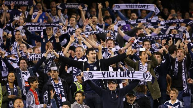 Victory fans show their support.