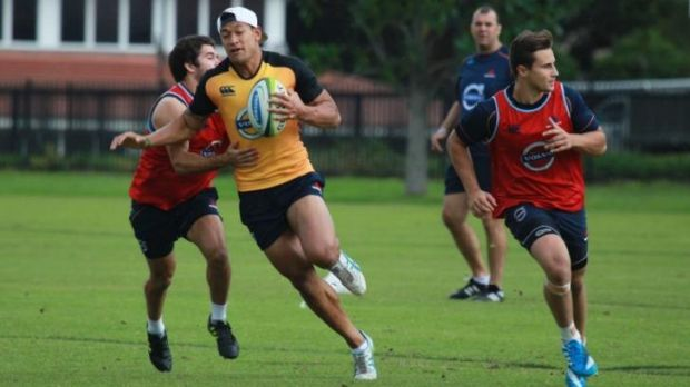 Caught in the middle: Israel Folau has endured an interesting couple of weeks.