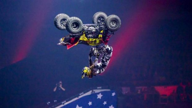 In a spin: Extreme sports participant Colten Moore.