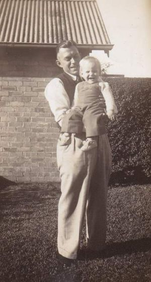 A young Marele Day with her father.
