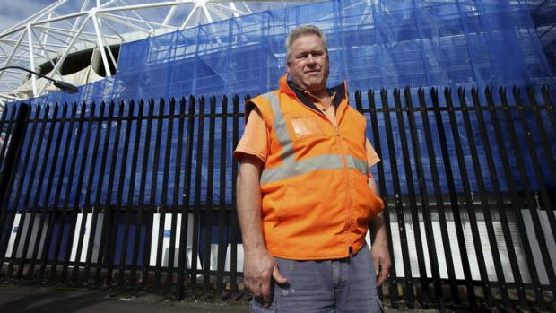 Crook knees: Labourer Paul Midson reckons he will be lucky to work beyond 60.
