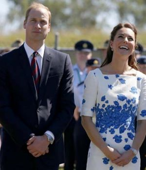 The royal couple watch a flypast.