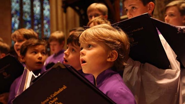 Witness to history: Freddie Cobb rehearsing with the St Andrew's Cathedral School choir.