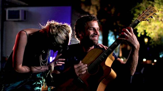 Bluesfest: Jack Johnson and Joss Stone jamming backstage.