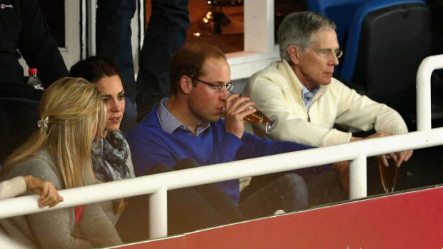 Prince William, Duke of Cambridge and Catherine, Duchess of Cambridge, watch the round 10 Super Rugby match between the ...