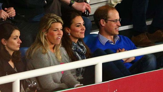 The royal couple at a Super Rugby match between the Waratahs and the Bulls.