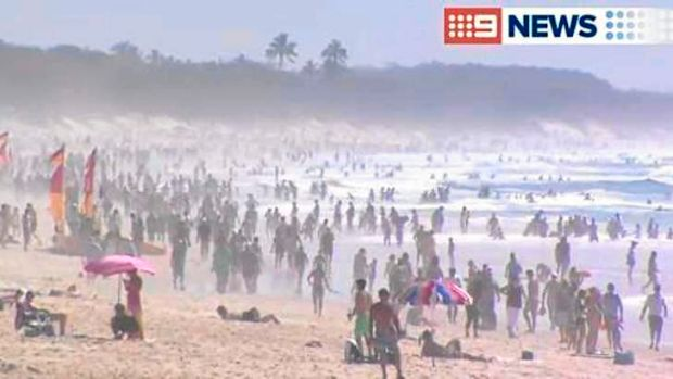Gold Coast beaches were packed for Easter Sunday.