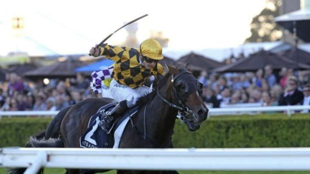 Dominant: It's A Dundeel triumphs in Sydney's richest race, the $4 million Queen Elizabeth Stakes, at Randwick on Saturday.