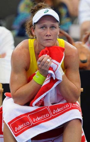 Love-two: Sam Stosur lost both her Fed Cup matches in Brisbane.