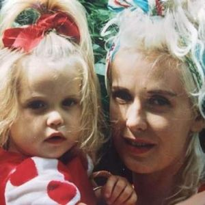 Peaches Geldoff posted an image of herself and her mother Paula Yates the day before she died.