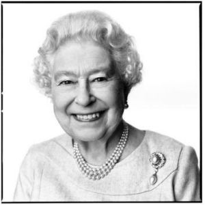 This portrait of Queen Elizabeth II by the renowned British photographer David Bailey.