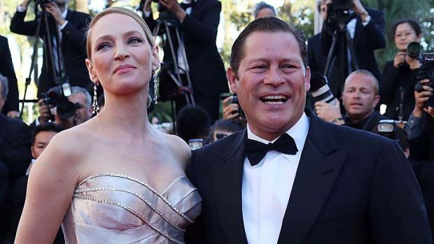Happier days: Uma Thurman and Arpad Busson attends the 'Zulu' Premiere and Closing Ceremony during the 66th Annual ...