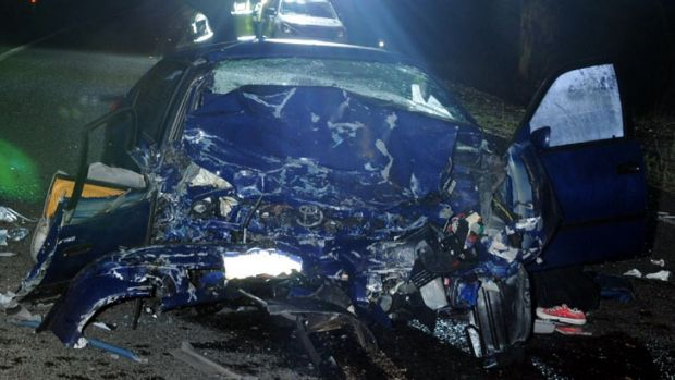 The driver of the Corolla was killed in the crash and his passenger seriously injured.