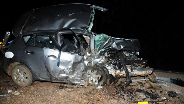 The Mazda's driver was seriously injured.