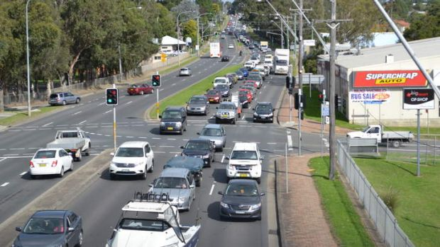 Holiday makers head north along the Princes Highway in Nowra.