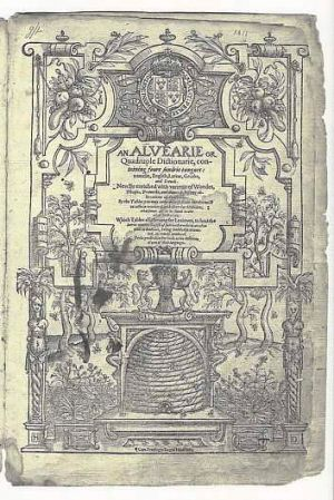 Shakespeare's own annotated  dictionary.