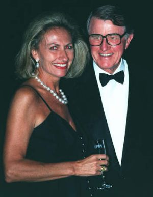 Neville Wran with wife Jill.