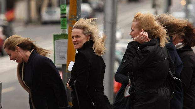 Melburnians were whipped by winds overnight.