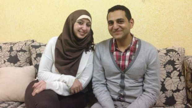 "Sameeha Elwan, with her husband Ayman Qwaider.   ""Since I was awarded the PhD scholarship, every day [was] a reminder ..."