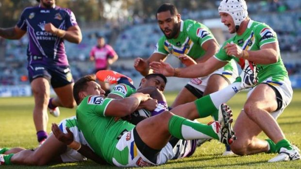 The NRL has ruled officials were correct in denying a try to Melbourne's Sisa Waqa against the Canberra Raiders on ...