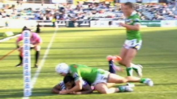 Sisa Waqa's controversial no-try in Sunday's loss to the Raiders.