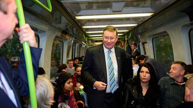 Stationary: Denis Napthine opened the new Springvale station.