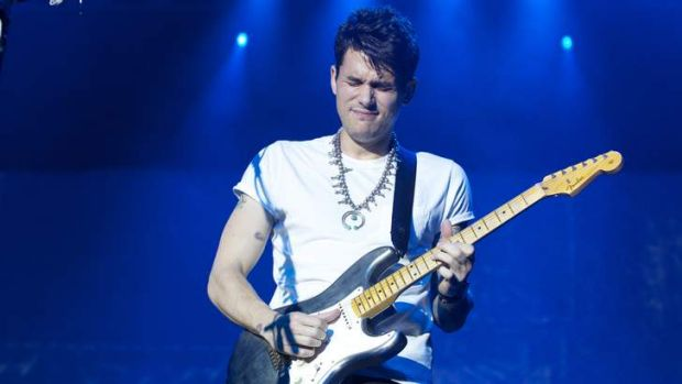 John Mayer performs at the Byron Bay Bluesfest.