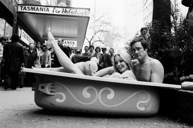 During a drought period in the early '70s Pete Smith interviewed shoppers accompanied by glamour girl Cheryl Rixon. The ...