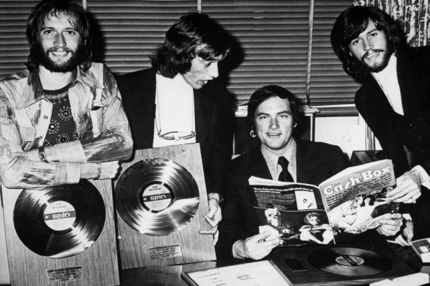 Pete Smith with the Bee Gees.