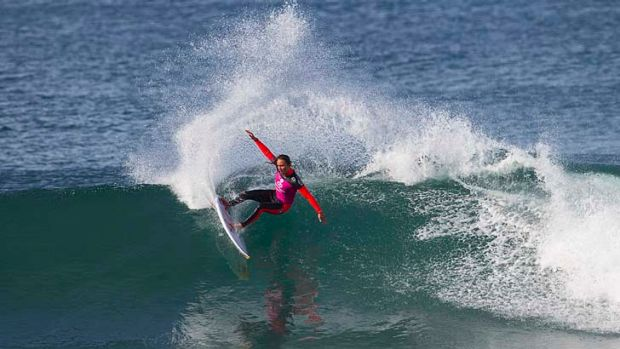 Carissa Moore of Hawaii (pictured) has won the Rip Curl Pro Bells Beach for the second consecutive year.