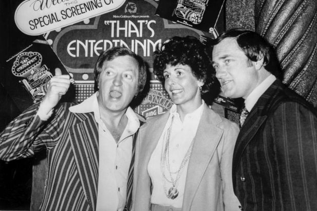 Graham Kennedy with Pete Smith and his wife Jackie.