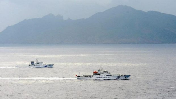 Tension: a Japanese coast guard vessel shadowing a Chinese surveillance ship last year near the disputed islands known ...