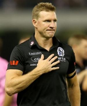 Collingwood coach Nathan Buckley.