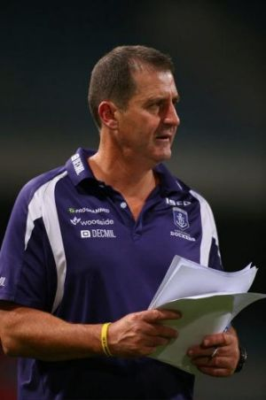 The Fremantle coach has been particularly concerned about the relaxation of the copping of arms in a contest.