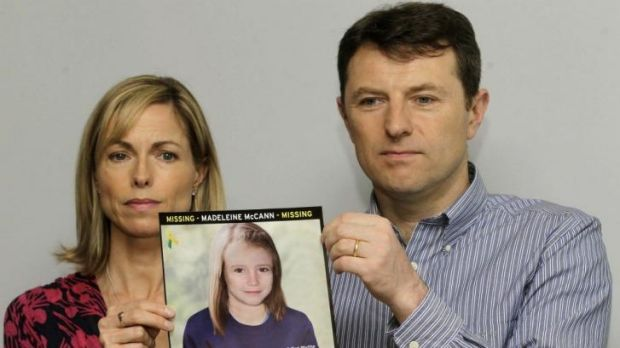 Never lost hope: Kate and Gerry McCann with a picture of their daughter Madeleine.