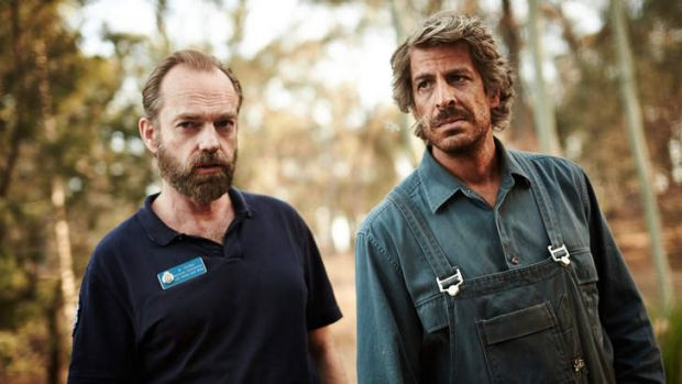 Hugo Weaving and Don Hany in <i>Healing</i>.