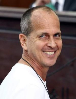 Detained: Australian journalist Peter Greste, who was working for Al Jazeera when he was arrested in Cairo by Egyptian ...