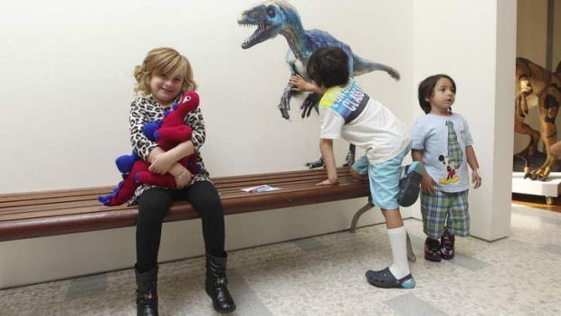Kaja Rajic, five, at the Australian Museum.