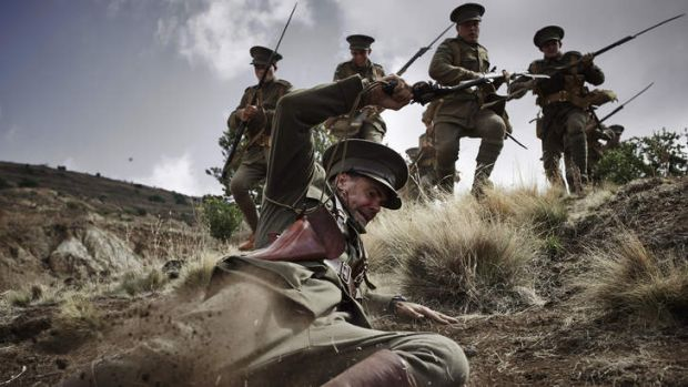 A scene from the mini-series <i>Gallipoli</i>, being shot in Victoria.