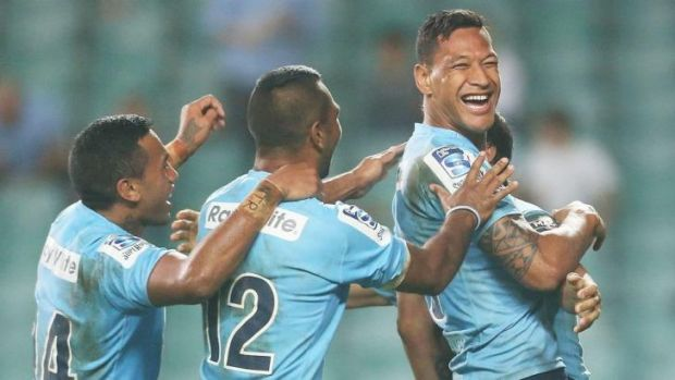 True blue: But would Waratah Israel Folau revert to Maroon if a State of Origin series were held in rugby union?