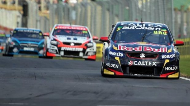 In charge: Craig Lowndes powers ahead during race 10 at the ITM 500.
