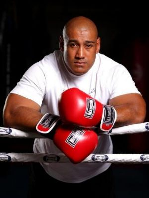 In for the fight of his life: Australia's Alex Leapai.