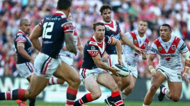 Back on song: James Maloney showed glimpses of his best form on Friday.