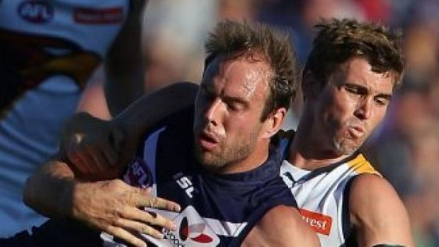 Kepler Bradley, pictured playing for the Dockers last year, will return to footy with the Peel Thunder.