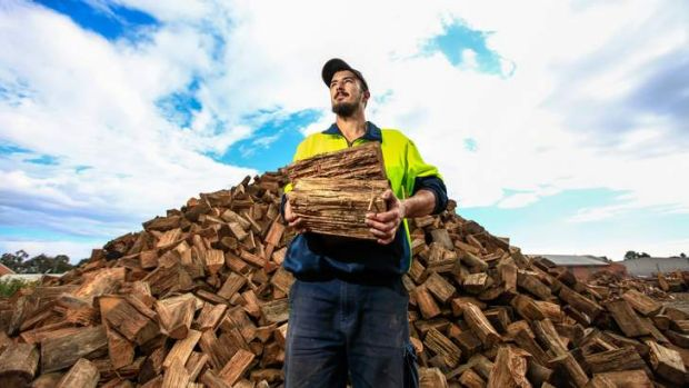 Rob Johnstone of O'Rourke's Firewood is ready for a busy season.