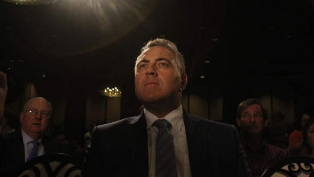 All worked out: Joe Hockey.