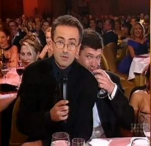 Andrew Denton with James Packer.