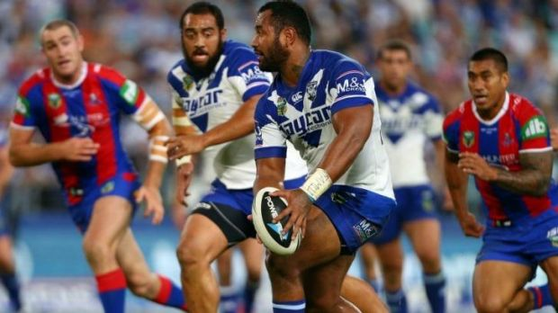 Bulldogs Bulldozer: Tony Williams could storm into the Blues squad for Origin I.