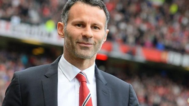 Ryan Giggs in his first game in charge of Manchester United.